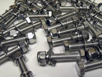 304 Material Full Thread Hex Nuts Bolts