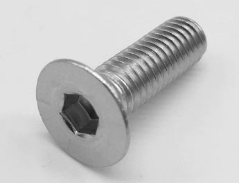M6 6MM A2 STAINLESS STEEL COUNTERSUNK CSK HEAD BOLT WITH NYLOC NUT AND WASHER