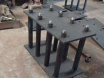 Carbon steel L type foundation bolts