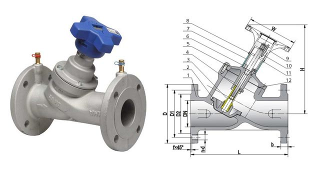 Stainless Steel Balancing Valve dimension